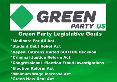 ... will finally be able to give the American people a voice in our out of  control government in Washington by enacting our Green Party legislative  goals.